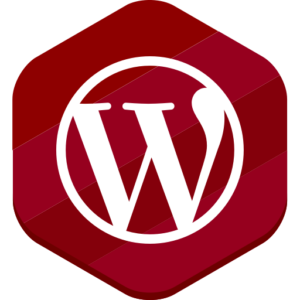 WordPress ikon rød
